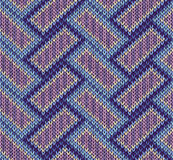 Style Seamless Knitted Pattern Royalty Free Stock Photo