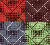 Style Seamless Knitted Pattern Stock Images
