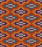 Style seamless knitted pattern Royalty Free Stock Photos