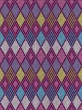 Style seamless knitted pattern Stock Image