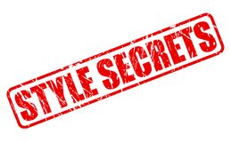 STYLE SECRETS red stamp text Stock Image