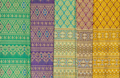 Style silk. Colorful of native thai style silk Royalty Free Stock Photos