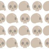 Style skulls faces seamless pattern background vector illustration halloween horror style tattoo anatomy art. Stock Image