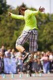 Style-slalom competition Royalty Free Stock Image