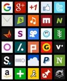 Style social carré de métro d'icônes de media [2] illustration libre de droits