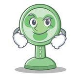 Style souriant d'un air affecté de bande dessinée de caractère de fan Illustration Libre de Droits