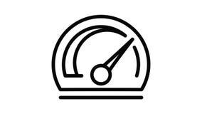 Style speedometer icon animation