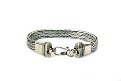Style steel bracelet Stock Images