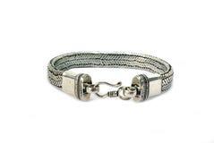 Style steel bracelet. On white background Stock Images