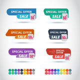 Style Sticker and Banner Template Stock Photos
