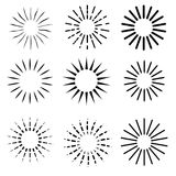9 Style of Sunburst, at white background. Vector 9 Style of Sunburst, at white background Stock Images