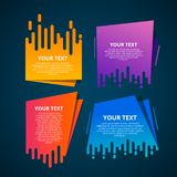Vector abstract speed geometric origami banner. Style text templates speed origami for banner Vector Text Label royalty free illustration