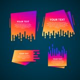 Vector abstract speed geometric origami banner. Style text templates speed origami for banner Vector Text Label vector illustration