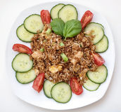 Style thaïlandais cuit au four de riz Photographie stock libre de droits
