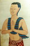 Style thaïlandais d'hommes, sawasdee Photos libres de droits