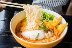 Style thaïlandais de nouille épicée Image libre de droits
