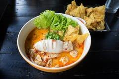 Style thaïlandais de nouille épicée Photo stock
