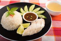 Style thaïlandais de riz de poulet Images stock