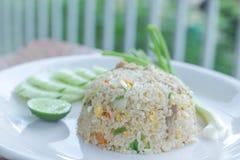 Style thaïlandais de riz frit image stock