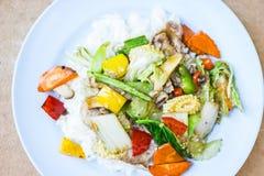 Style thaïlandais de riz frit images stock