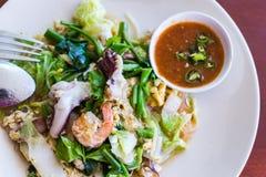 Style thaïlandais de riz frit photo stock