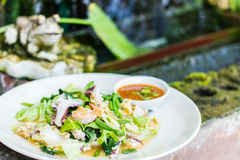 Style thaïlandais de riz frit photographie stock