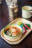 Style thaïlandais de soupe à crevette rose Photographie stock libre de droits