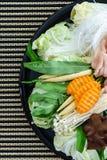 Style thaïlandais Shabu Shabu ou matière première d'ingrédient de Sukiyaki Photo stock