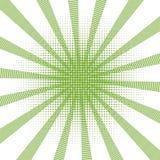 Style tramé d'art de bruit de rétro de fond gradient vert comique de trame rétro - vecteur courant illustration libre de droits
