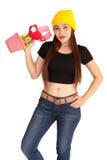 Style vanlentine-1 heureux de fraise-mère de hib de femme Photos libres de droits