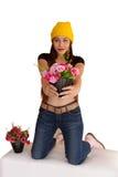Style vanlentine-17 heureux de fraise-mère de hib de femme Images libres de droits
