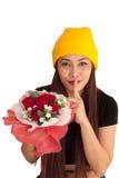 Style vanlentine-23 heureux de fraise-mère de hib de femme Photos stock