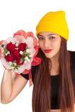 Style vanlentine-21 heureux de fraise-mère de hib de femme Image stock