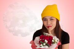 Style vanlentine-25 heureux de fraise-mère de hib de femme Photo stock