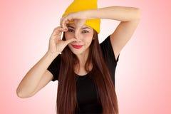 Style vanlentine-50 heureux de fraise-mère de hib de femme Photographie stock libre de droits
