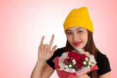 Style vanlentine-31 heureux de fraise-mère de hib de femme Photos stock