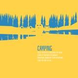 Style vert campant de forêt Photo libre de droits