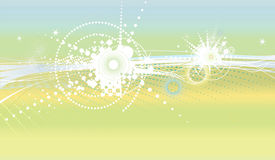 Style wallpaper with stars and circles Stock Images