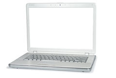 Style White Metallic Laptop Stock Photography