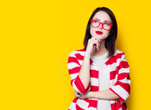 Style woman in glasses Royalty Free Stock Photos
