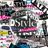 STYLE word cloud concept Royalty Free Stock Photos