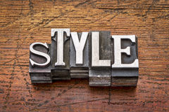 Style word in  metal type Stock Photo