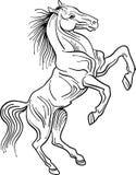 Styled brush stroke jumping horse. Styled brush stroke jumping  horse drawing image with isolated white background Royalty Free Stock Photography