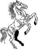 Styled brush stroke jumping horse. Styled brush stroke jumping  horse drawing image with isolated white background Stock Photos