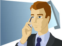 Styled businessman talk the mobile phone Stock Image