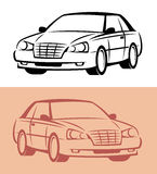 Styled car icon. Vector. Styled icon of modern car Stock Photo