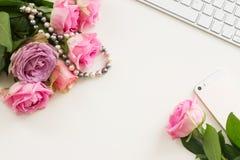 Styled desktop scene Stock Image