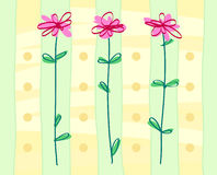 Styled flowers background Royalty Free Stock Photography