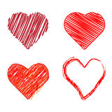 Styled heart collection (vector) Royalty Free Stock Photo