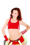 Styled professional cheerleader. Royalty Free Stock Image